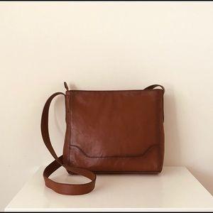 Frye Cognac leather messenger crossbody purse new